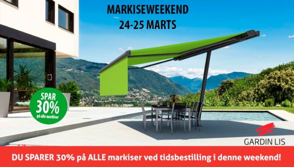 Markise-weekend hos Gardin Lis